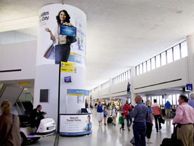 Airport Wall Advertising Wraps