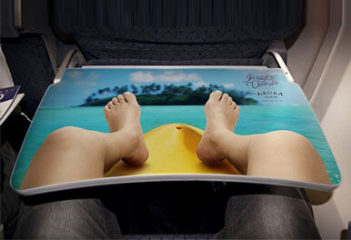Inflight Table Tray Advertising