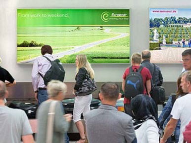 Kuwait Airport Baggage Claim Area Advertising