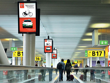 Kuwait Airport Digital Screen Network Advertising