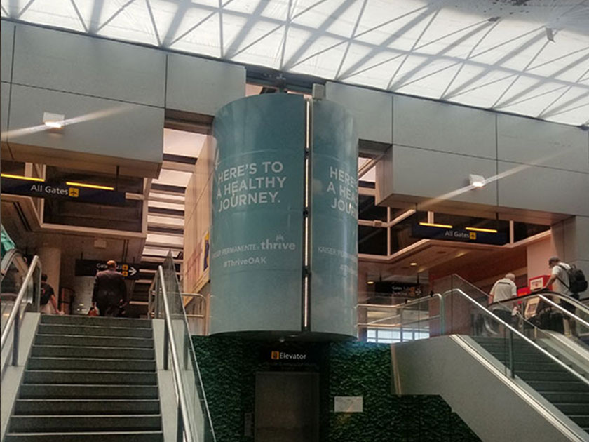 OAK Airport Advertising: Wrap Takeover