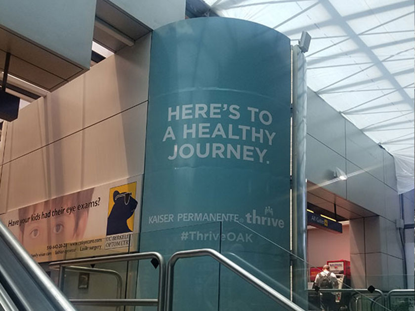 OAK Airport Advertising: Wall Wrap Domination