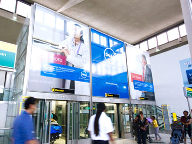 Zurich Airport Wall Wrap Advertising